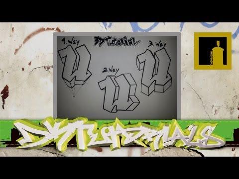 3D Graffiti Tutorial - 3 ways of adding the 3D Effect