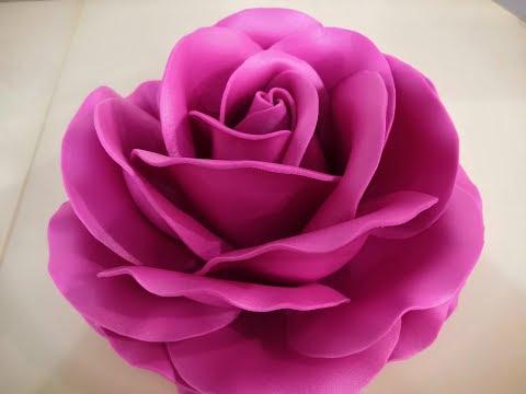 МК Роза из изолона светильник. Часть 1. Master Class Table Rose