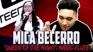 The Voice Teens Philippines Blind Audition: Mica Becerro - Queen Of The Night (Magic Flute) REACTION