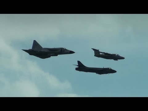 Royal Swedish Air Force Historic Flight at Jersey 12th September 2013