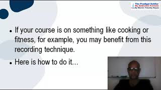 How To Create Your First Online Course During Or  Living In Post Addiction Treatment.