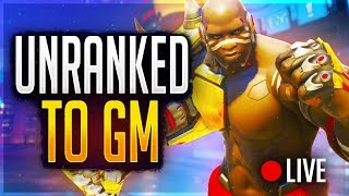 🔴UNRANKED TO GRANDMASTER! Pro Overwatch Player Tries Fortnite (2-0 in Contenders Trials!)