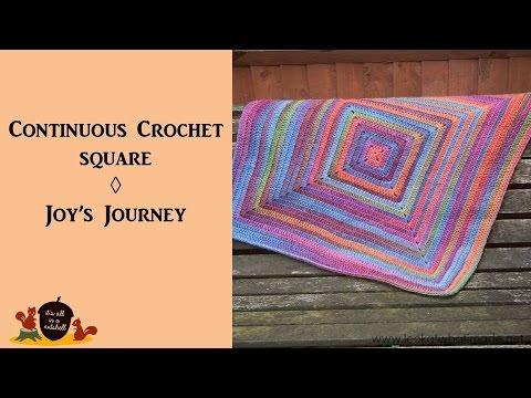 Continuous Crochet Square Joys Journey Continuous Square Blanket