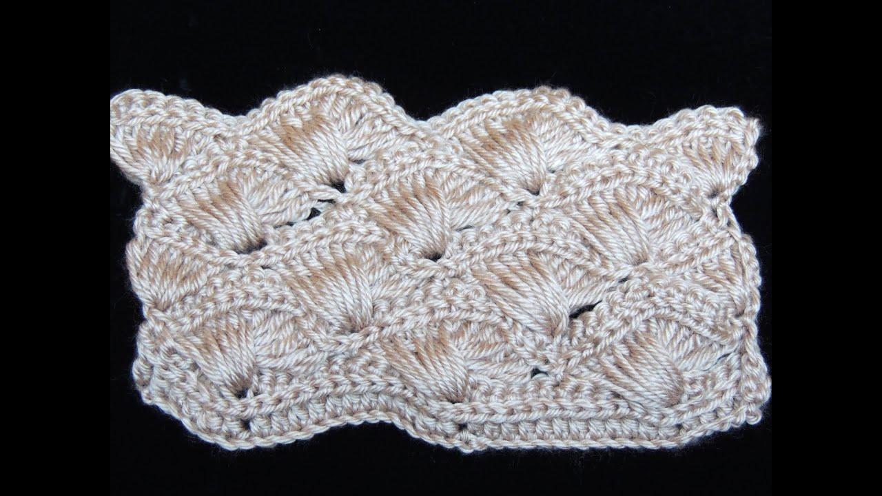 Crochet : Abanico Cruzado. Parte 1 de 2 - YouTube