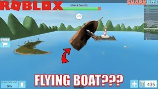 This boat can FLY | Roblox SharkBite