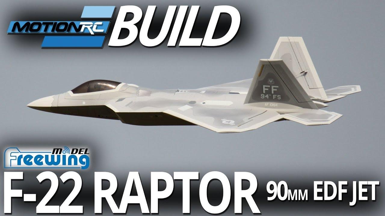 Freewing F-22 Raptor 90mm EDF Jet - Build Video - Motion RC