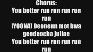 Run Devil Run - SNSD Lyrics.