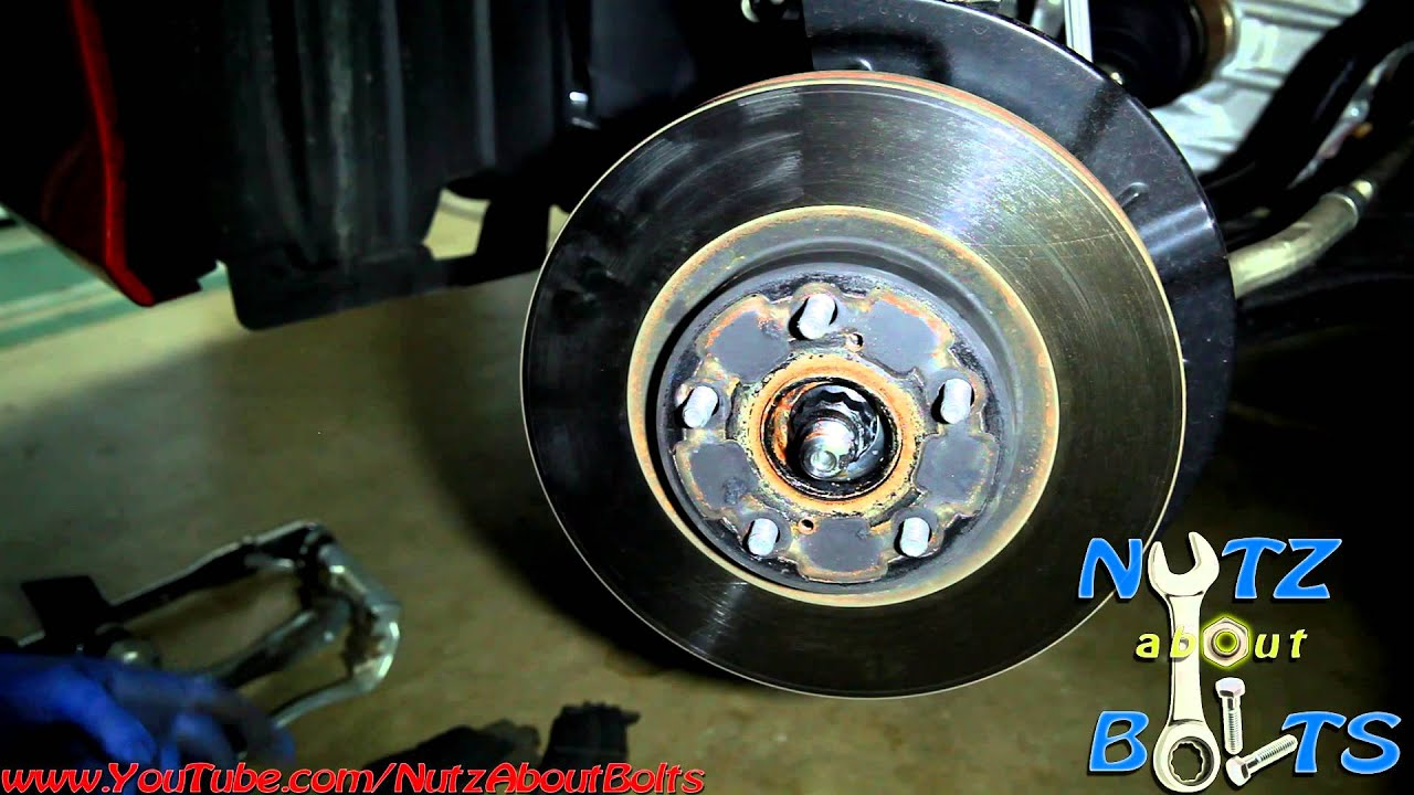 2012 2014 Toyota Camry Front Brakes Remove And Install Youtube Le Engine Diagram Of
