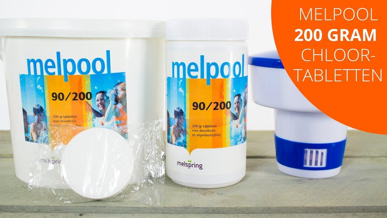 Bekend Melpool 200gram Chloortabletten Pooltopper - Zwembad ZN33