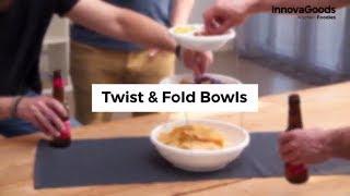 InnovaGoods Kitchen Foodies Twist & Fold Bowls