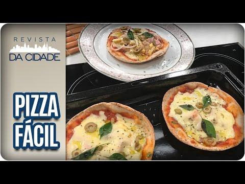 Receita de Pizza com Pão Sírio - Revista da Cidade (03/05/2017)