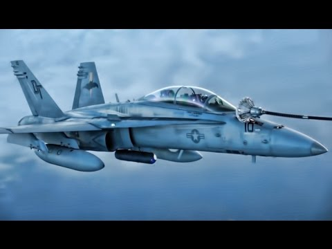 U.S. Marines Refuel F/A-18D Hornets Inflight