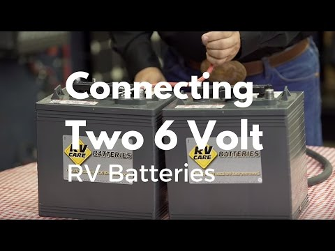 how to connect to batteries in series