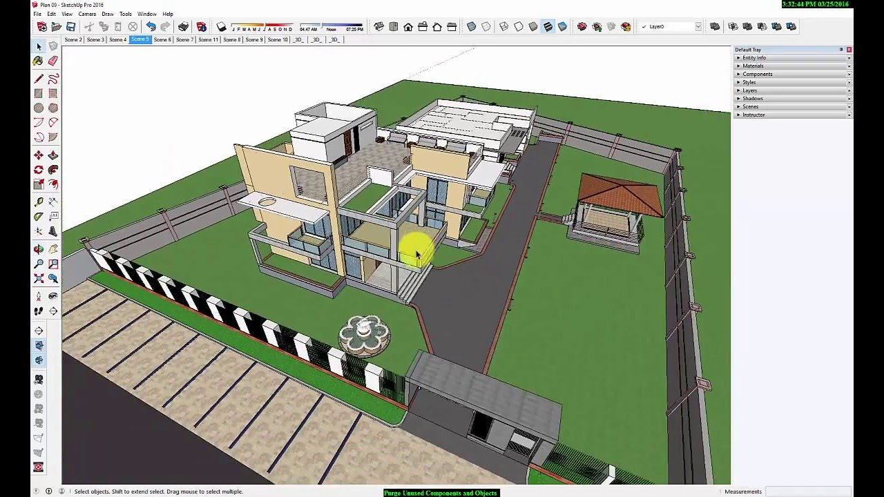 Purge Unused Components And Objects In Sketchup Modele Youtube