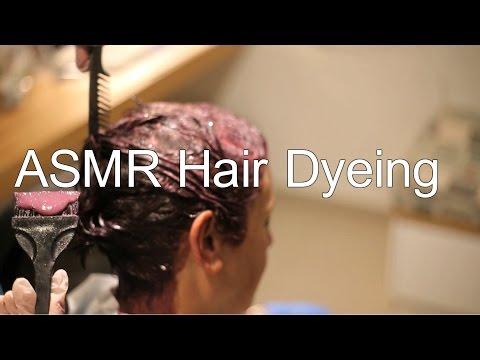 ASMR Hair Oxidation & Dyeing | Hair Massage | Foil Paper | No Talking