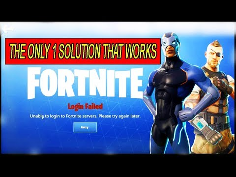 How To Fix Fortnite Login Failed Error | Unable To Login To Fortnite Servers
