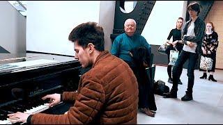 PIANO IMPROVISATION Pt. 1 [Blues by Thomas Krüger] at Amsterdam Train Station - THOMAS KRÜGER