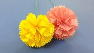 How to make carnation paper flower | Easy origami flowers for beginners making | DIY-Paper Crafts