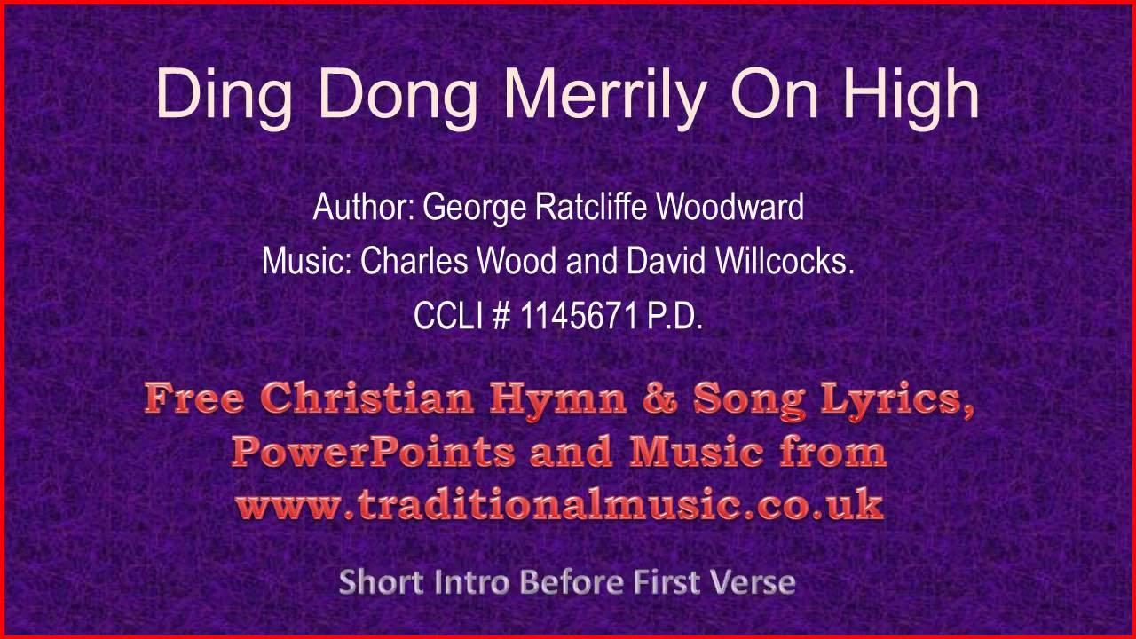 Ding Dong Merrily On High - Christmas Carols Lyrics & Music - YouTube