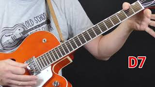 Eddie Taylor Guitar Lesson   Part I Basic Shuffle in A