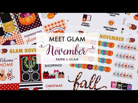 Meet the Glam November Planner Collection!