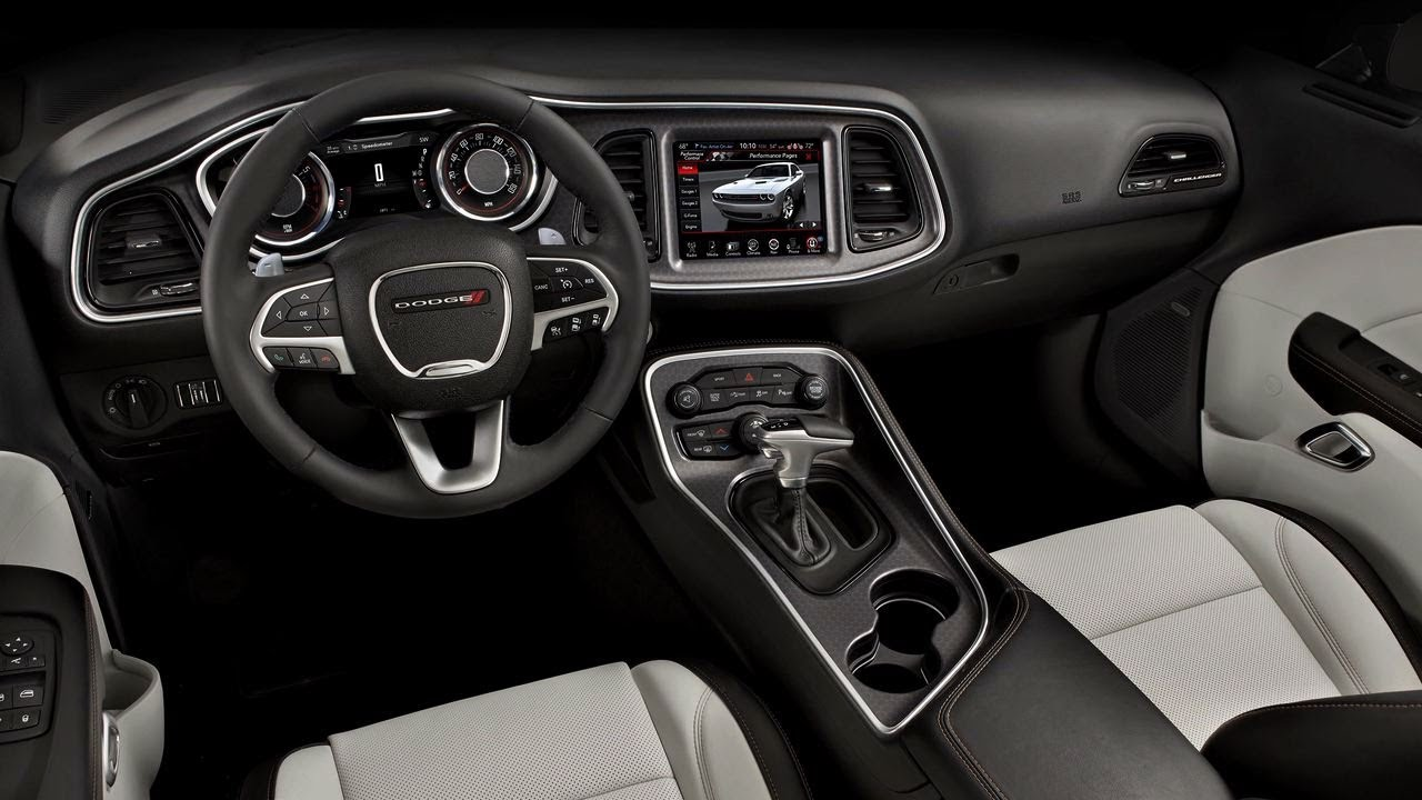 2015 dodge challenger interior feature youtube. Black Bedroom Furniture Sets. Home Design Ideas