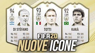 Le NUOVE ICONE di FIFA 20?! 😍 TOTTI, KAKÀ, BECKHAM, DI STEFANO | La mia WISHLIST ep.1