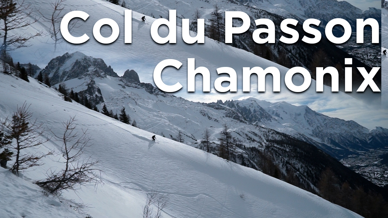 Col du Passon Montagne de Peclerey ski monoski snowboard de randonnée Chamonix Mont-Blanc