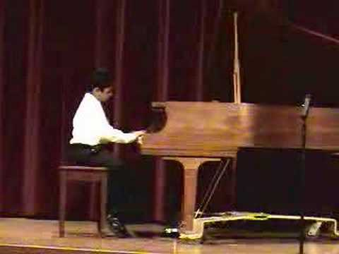 Shyam - Playing Piano (1st Grade - May 2008 - Schaumburg Christian School)