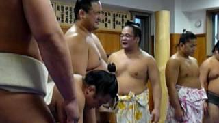 2008年末 伊勢ヶ濱部屋の餅つき 伊勢ヶ濱親方 検索動画 28