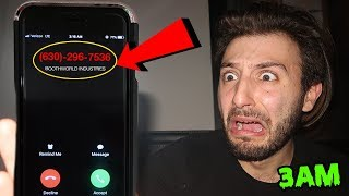 DONT CALL BOOTHWORLD INDUSTRIES AT 3AM (BOOTHWORLD CALLED ME BACK) | CREEPY NUMBER SHOULD NEVER CALL