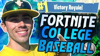 COLLEGE BASEBALL PLAYER PLAYS FORTNITE FOR FIRST TIME!!
