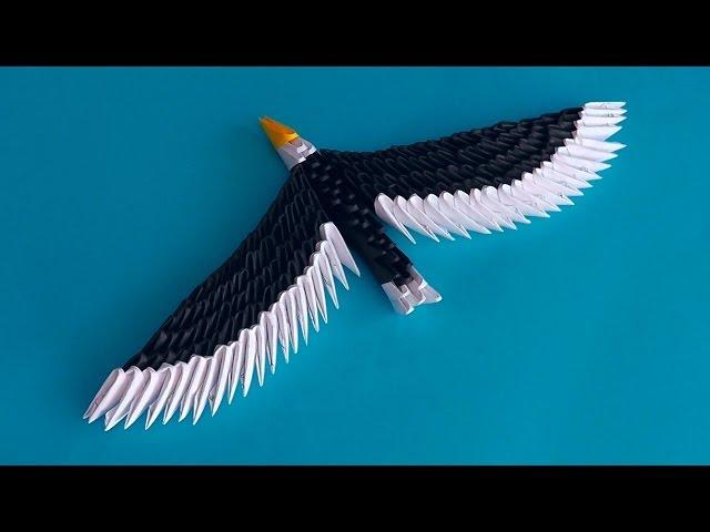 Орел из модулей оригами мастер