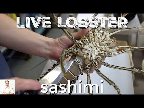 GRAPHIC: LIVE Lobster Sashimi | So Fresh It's Moving | Okinawa Street Food