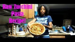 Raw Zucchini Pasta Recipe! Vegan, What?