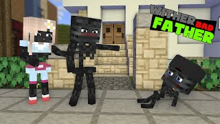 POOR BABY WITHER LIFE BAD FATHER | VERY SAD MONSTER SCHOOL MINECRAFT ANIMATION