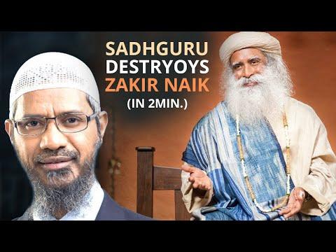 SADHGURU DESTROYS Zakir Naiks SHIRK Branding