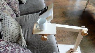 Make an adjustable computer desk