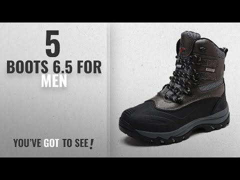 Top 10 Boots 6.5 [ Winter 2018 ]: arctiv8 Men's 160443-M Black Grey Insulated Waterproof
