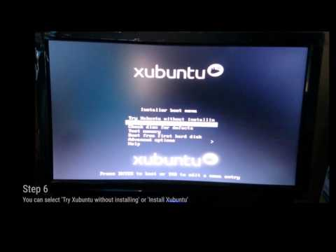 How to Install Xubuntu from a USB Drive