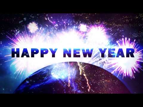HAPPY NEW YEAR 2019 ( v 624 ) Countdown Timer with Sound Effects and Voice 4K