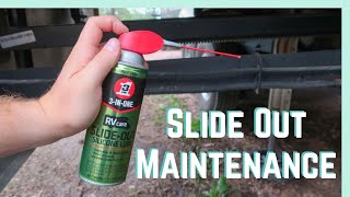 Maintaining Your Slides with 3-IN-ONE RVcare Slide-Out Silicone Lube!