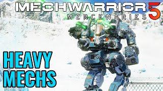 ALL HEAVY MECHS + WEAPON SIZES! - MECH LAB CHECK - Mechwarrior 5: Mercenaries MW5 Beta