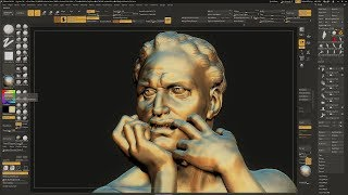 Sculpting Ugolino and His Sons by Jean-Baptiste Carpeaux using ZBrush 2018 - Part - 06
