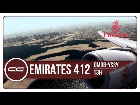 P3D V3.4   OMDB (Dubai) - YSSY (Sydney) STUNNING SCENERY   UAE412   PMDG 777-300ER