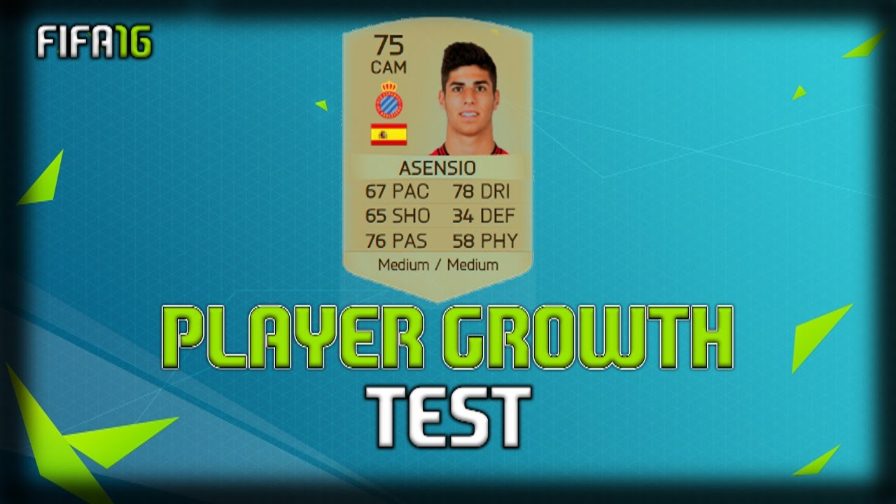 FIFA 16 | Marco Asensio | Growth Test + Gameplay - YouTube