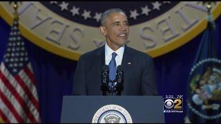 Obama Returns To Chicago