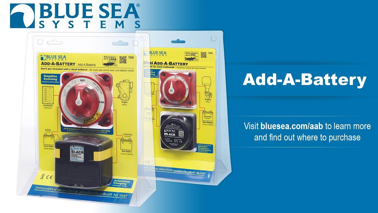 Blue Sea Mini Add A Battery Wiring Diagram Nuheat Signature Systems Youtube