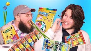2 Kids Eat Japanese Pokemon Snacks (w/Anything4Views)