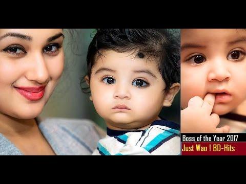 শাকিব খানের ছেলে কত সুন্দর দেখুন ! নতুন নতুন ছবি !  Shakib Khan Son best of the year !